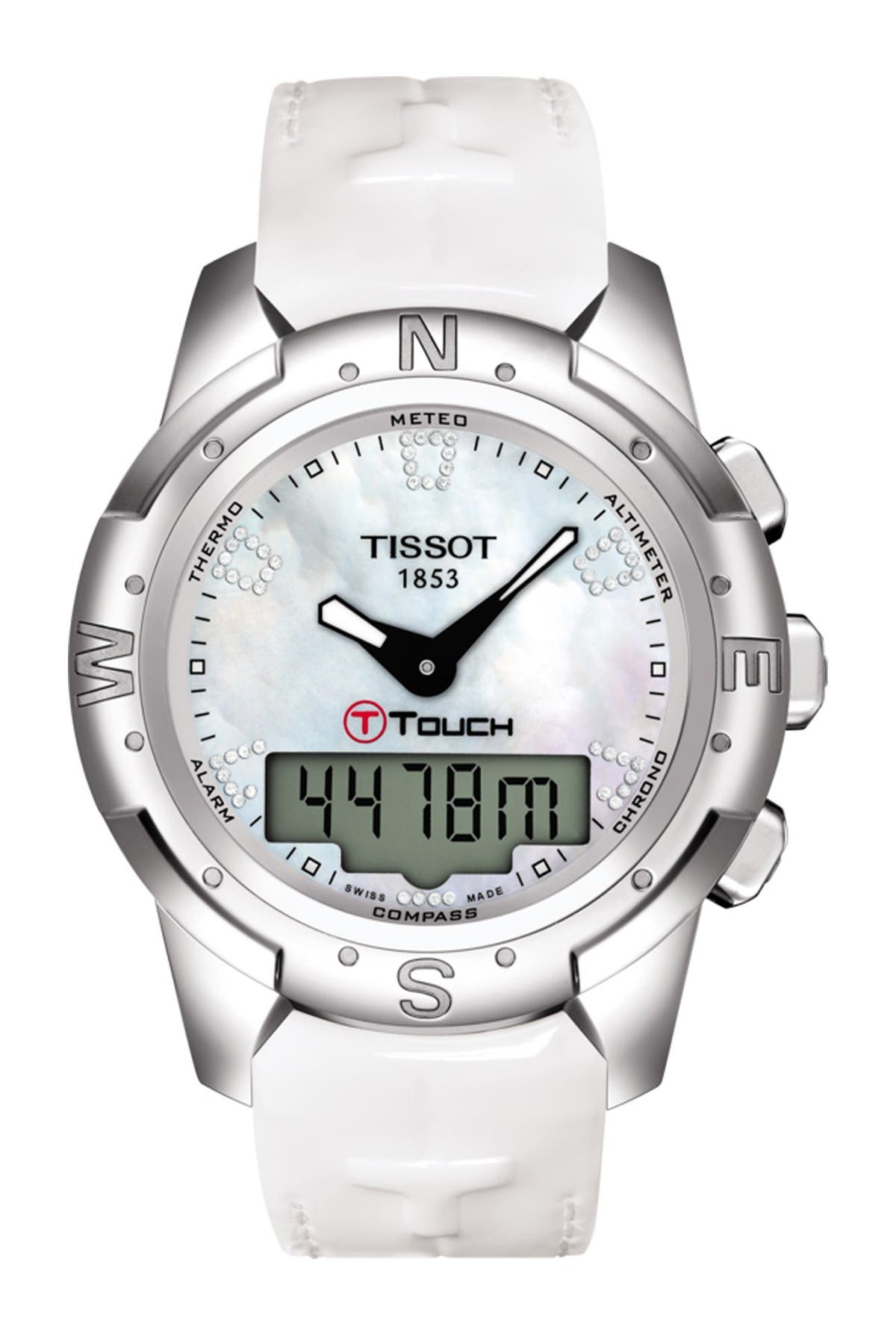 Image of Tissot Women's T-Touch II Leather Watch, 43.3mm