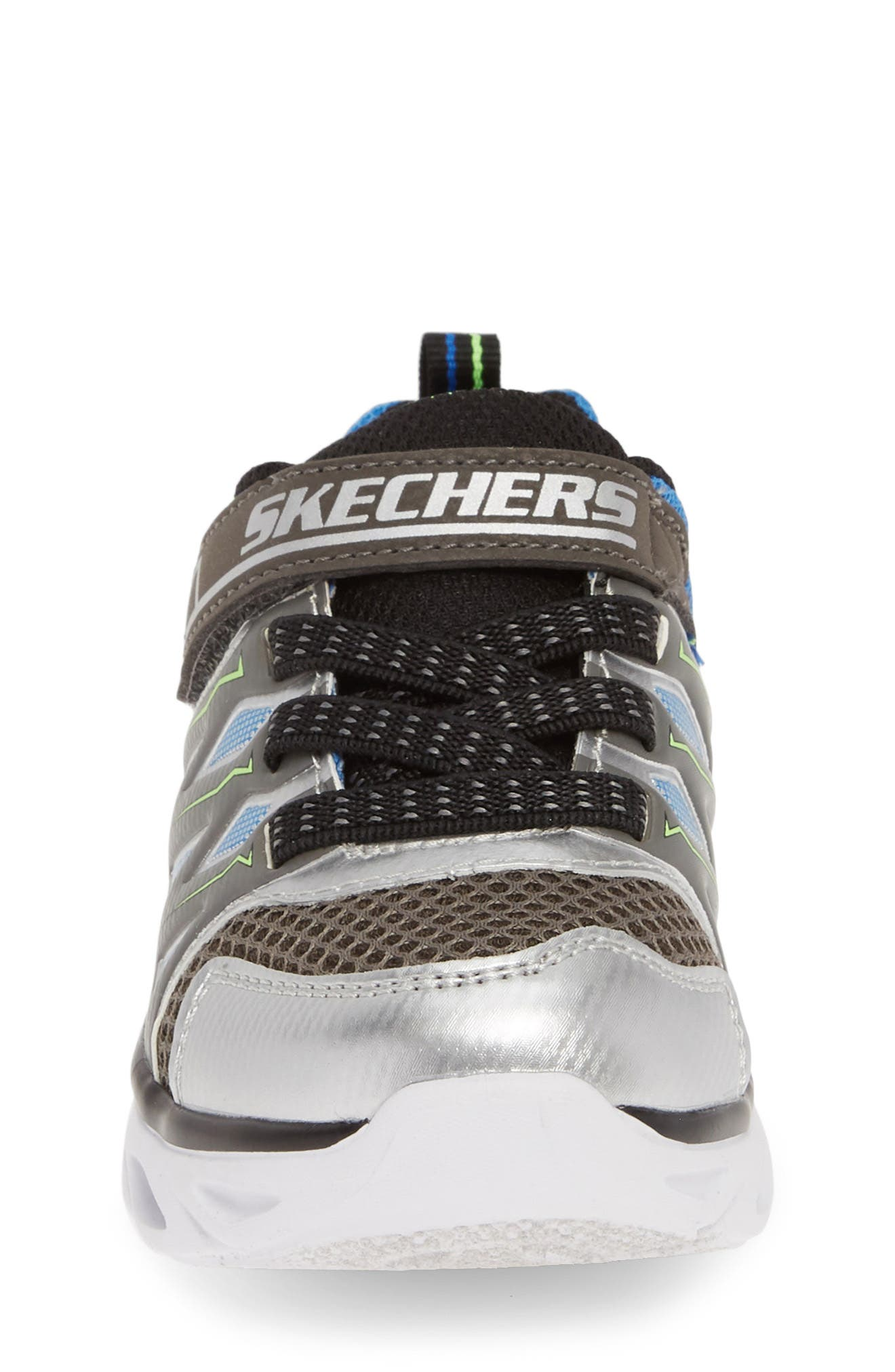,                             Hypno-Flash 3.0 Light-Up Sneakers,                             Alternate thumbnail 4, color,                             SILVER/ BLUE
