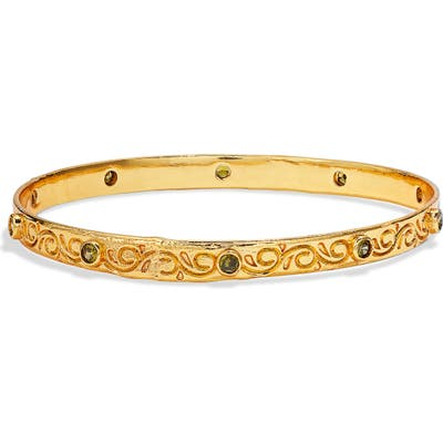 Lux Divine Laurel Bangle Bracelet