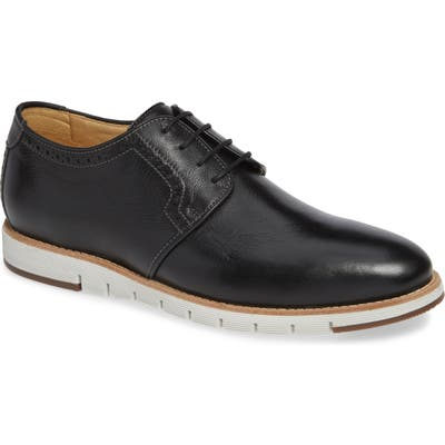 J & m 1850 Martell Plain Toe Derby- Black
