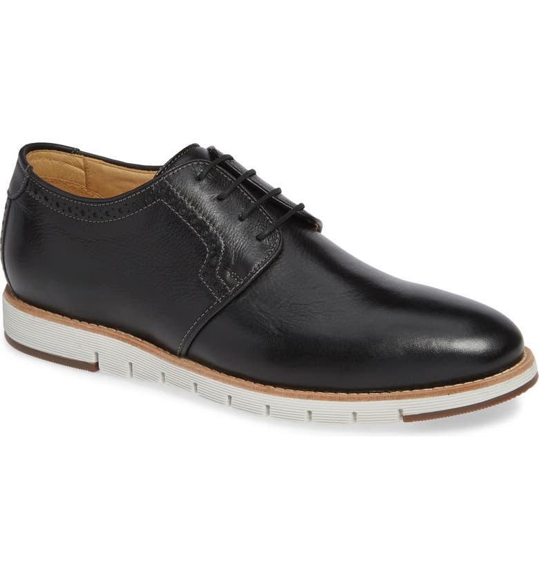 J&M 1850 Martell Plain Toe Derby, Main, color, BLACK LEATHER