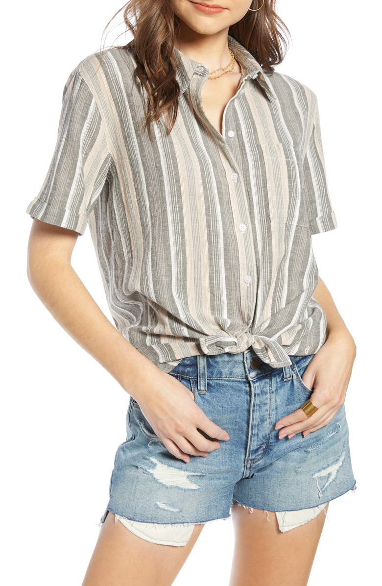 TREASURE & BOND Relaxed Stripe Shirt, Main, color, 315