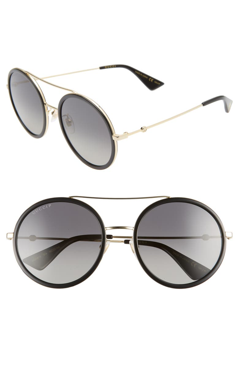 GUCCI 56mm Round Sunglasses, Main, color, 721