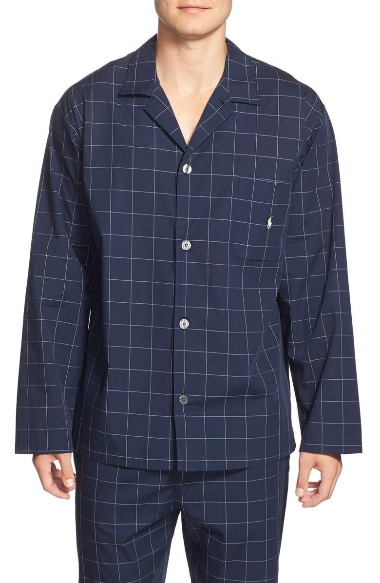 POLO RALPH LAUREN Woven Pajama Top, Main, color, 410