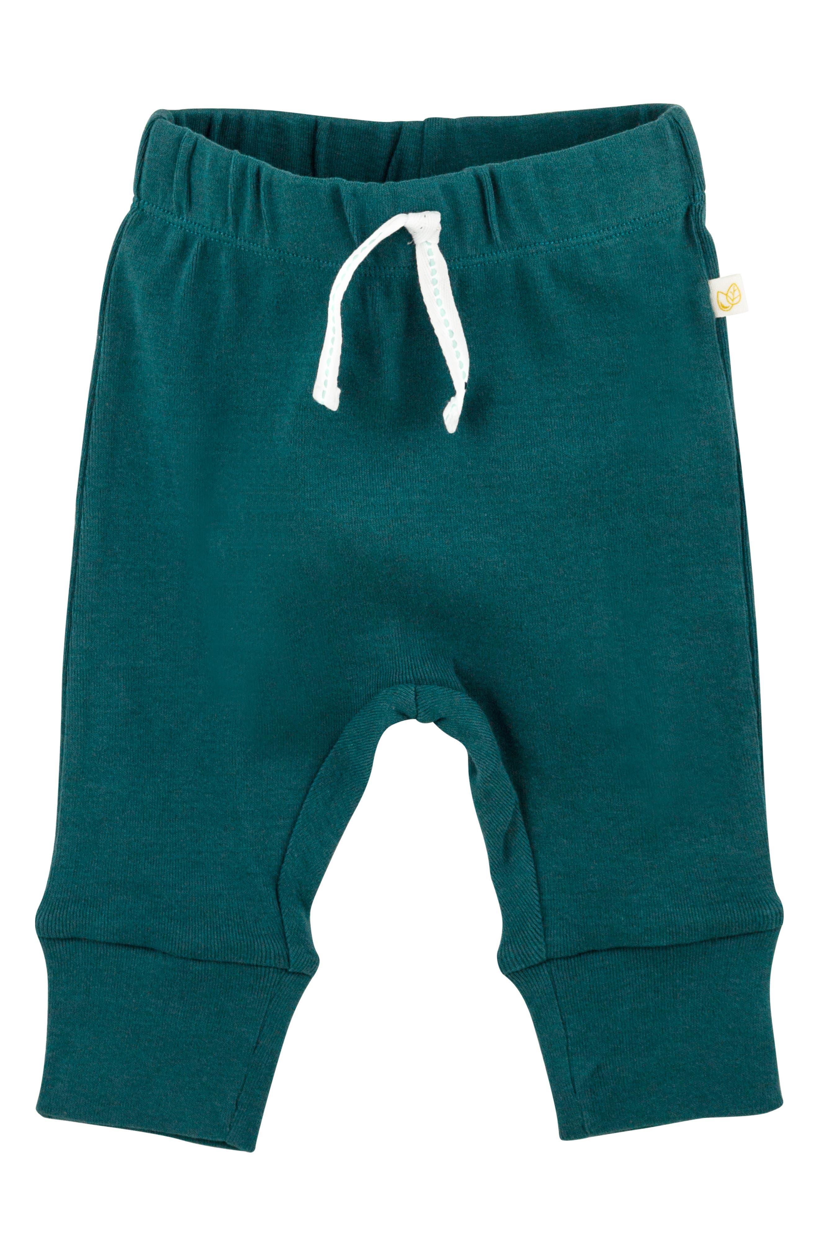 ,                             Organic Cotton Bandana Bib, Bodysuit, Sweatpants & Footie Gift Set,                             Alternate thumbnail 4, color,                             810