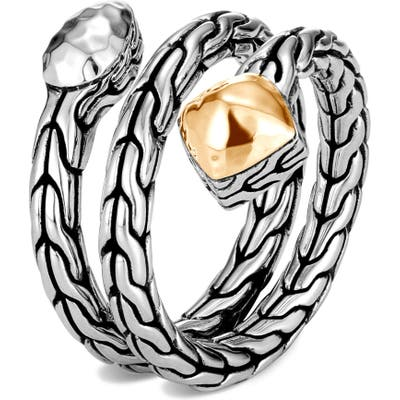 John Hardy Classic Chain Hammered Wrap Ring