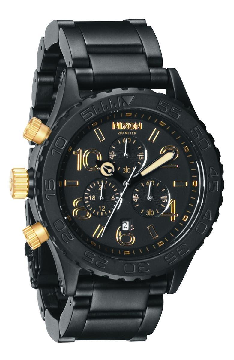 NIXON 'The 42-20 Chrono' Watch, Main, color, 001