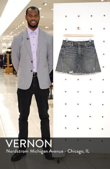 Eva A-Frame Gusset Denim Skirt, sales video thumbnail