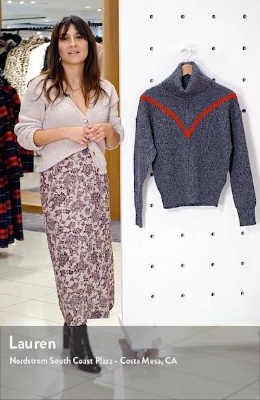 Line Turtleneck Marled Wool Blend Sweater, sales video thumbnail