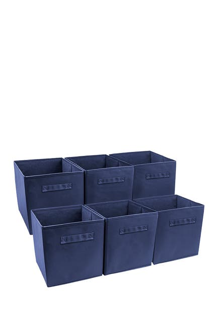 6-Pack Sorbus Foldable Storage Cube Basket Bin (navy)