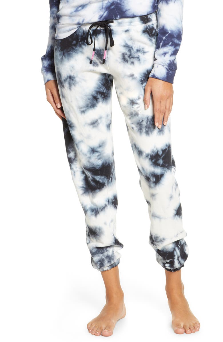 PJ SALVAGE Tie Dye Pajama Pants, Main, color, 401