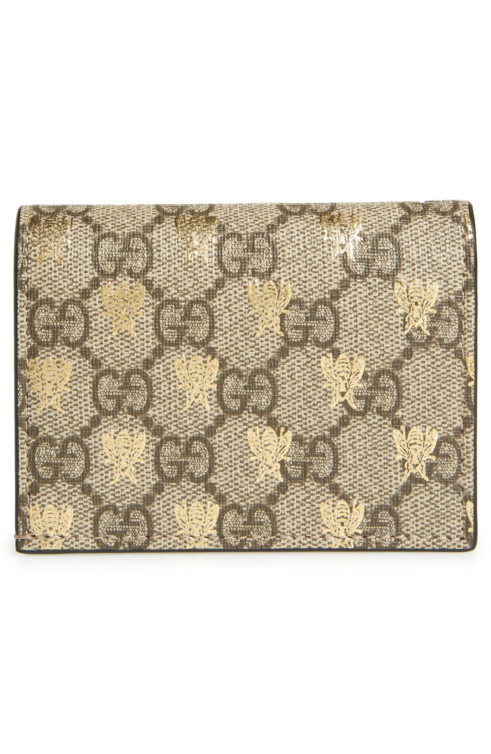 f1a25a19862c Gucci GG Supreme Bee Canvas Bifold Wallet | Nordstrom