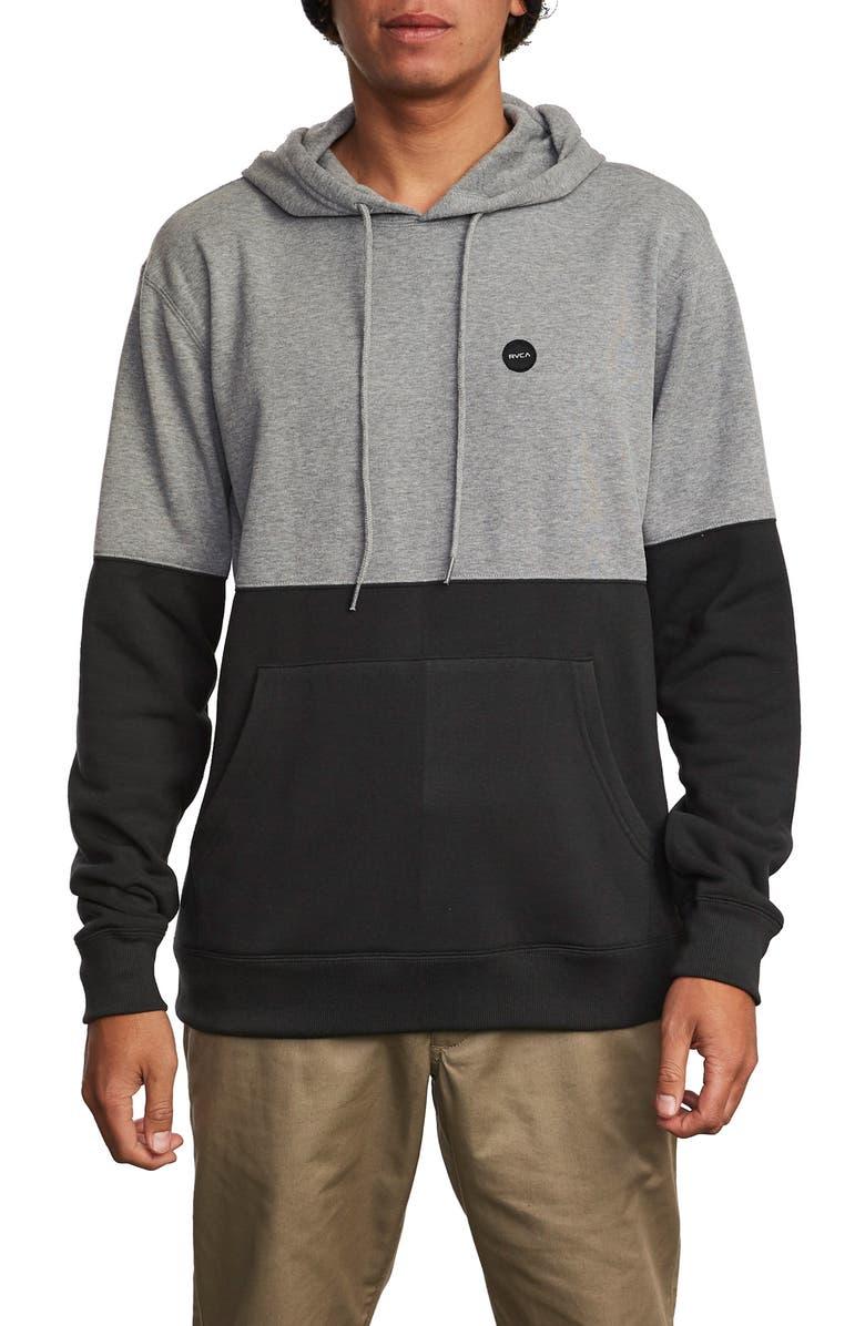 RVCA Carlisle Hooded Sweatshirt, Main, color, ATHLETIC HEATHER