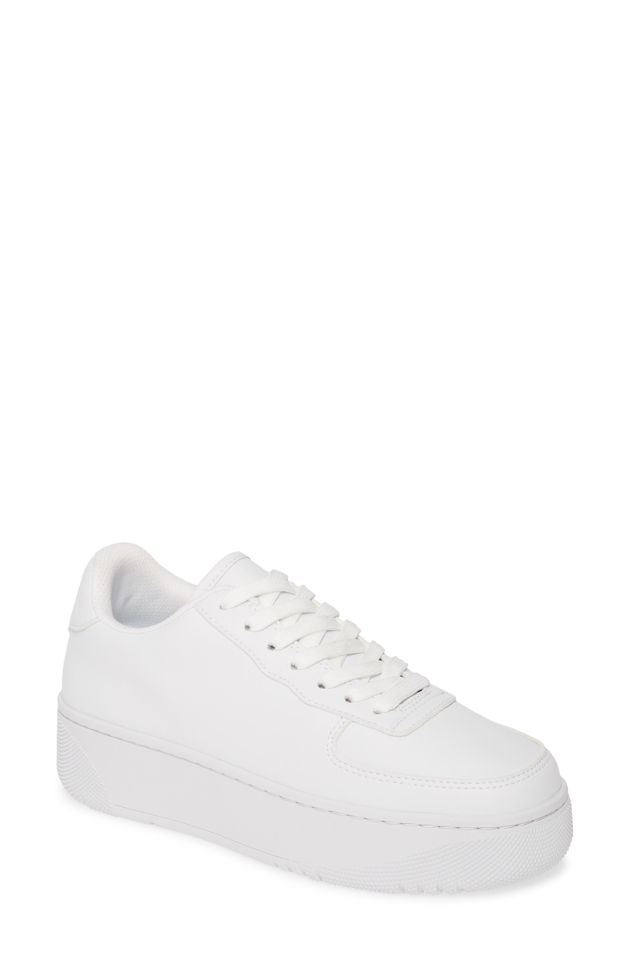Image of Jeffrey Campbell Court Embossed Platform Sneaker