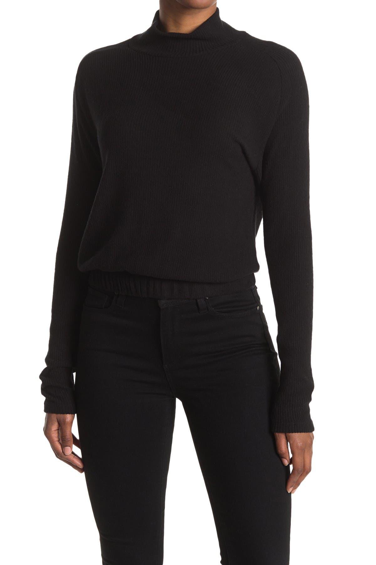 Image of LA LA LAND CREATIVE CO Brushed Mock Neck Pullover Sweater
