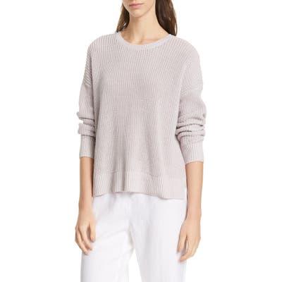 Eileen Fisher Boxy Organic Cotton Sweater, Purple