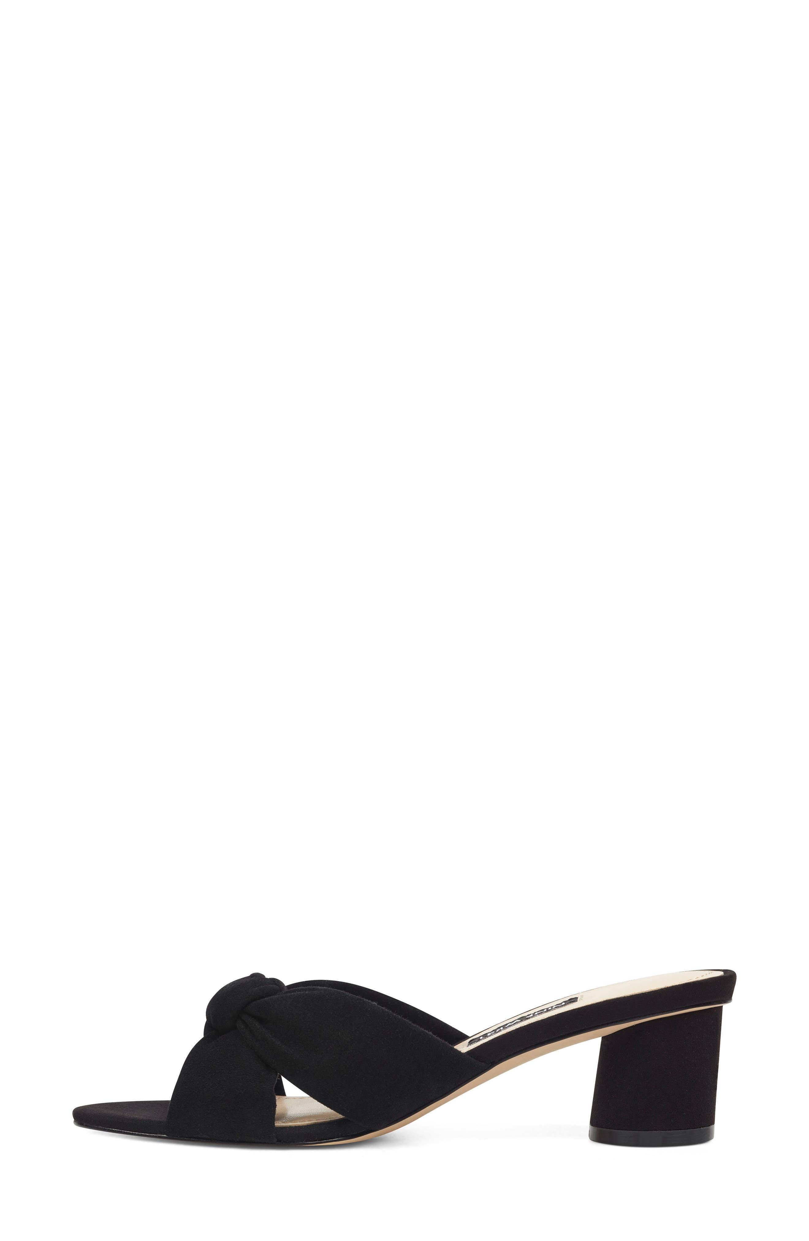 ,                             Kayla Knot Slip-On Sandal,                             Alternate thumbnail 7, color,                             BLACK SUEDE