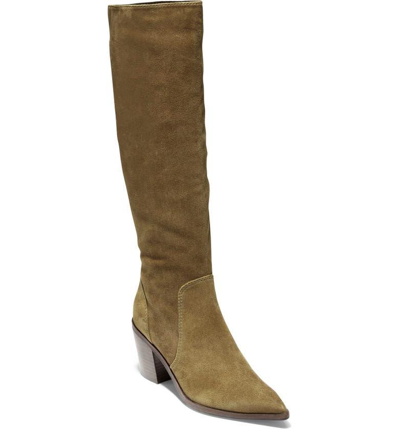 COLE HAAN Willa Knee High Boot, Main, color, BERKSHIRE SUEDE