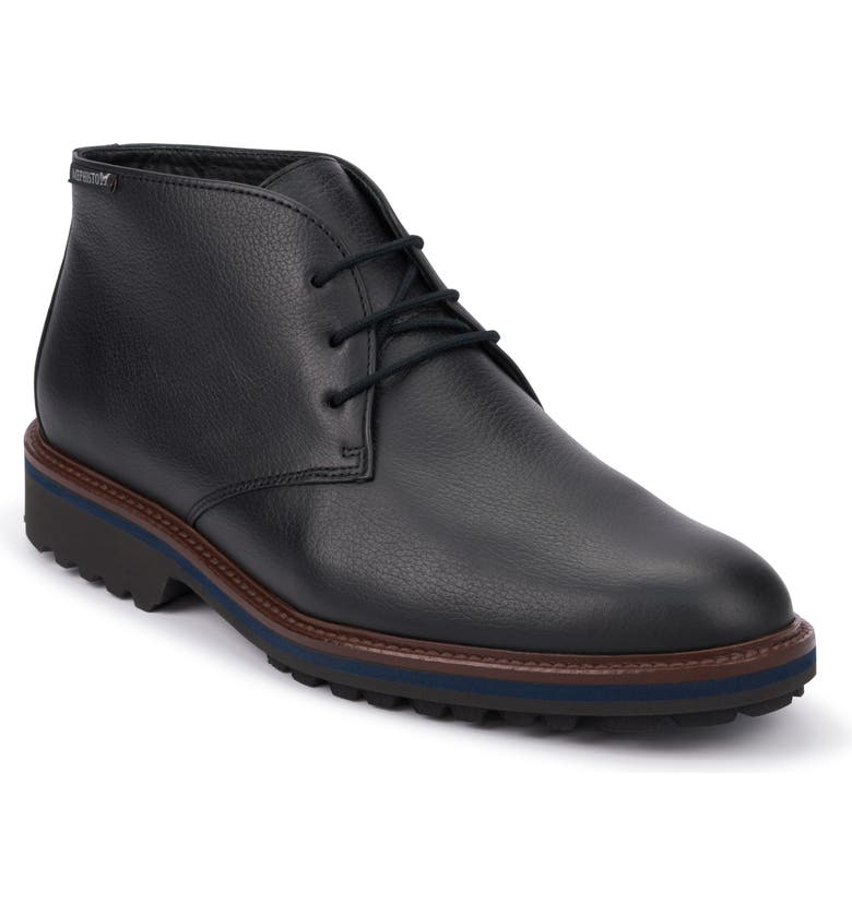 MEPHISTO Berto Chukka Boot, Main, color, BLACK LEATHER