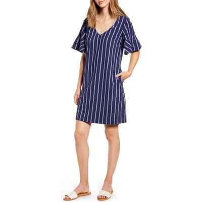 Tommy Bahama Vista Stripe V-Neck Shift Dress, Blue