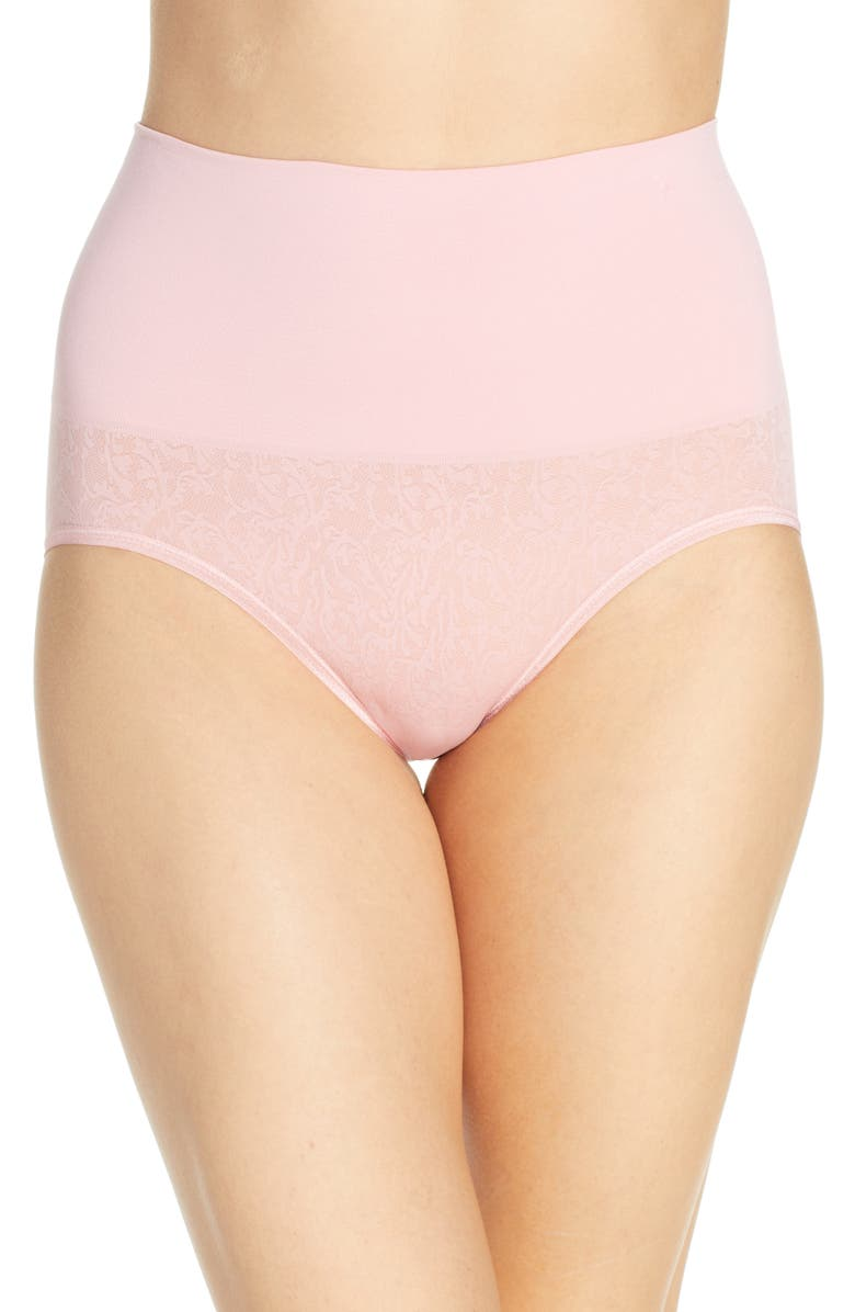 YUMMIE Ultralight Seamless Shaping Briefs, Main, color, BLUSH