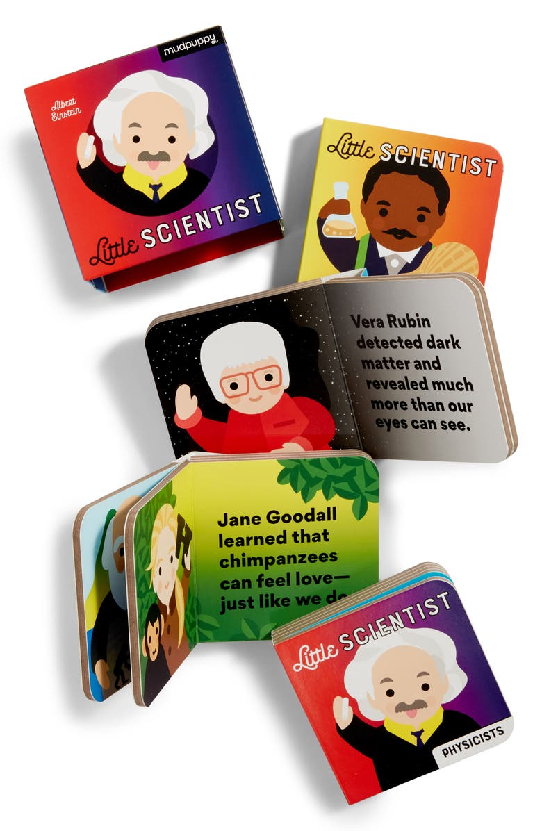 CHRONICLE BOOKS 'Little Scientist' 4-Pack Board Book Set, Main, color, BLUE