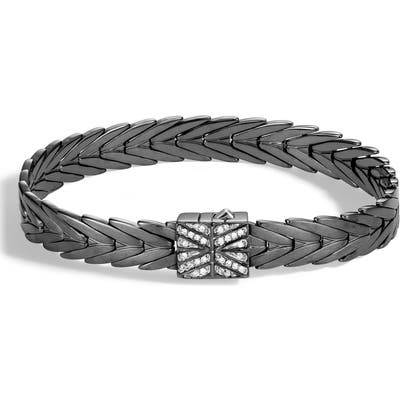 John Hardy Modern Chain Diamond Pave Bracelet
