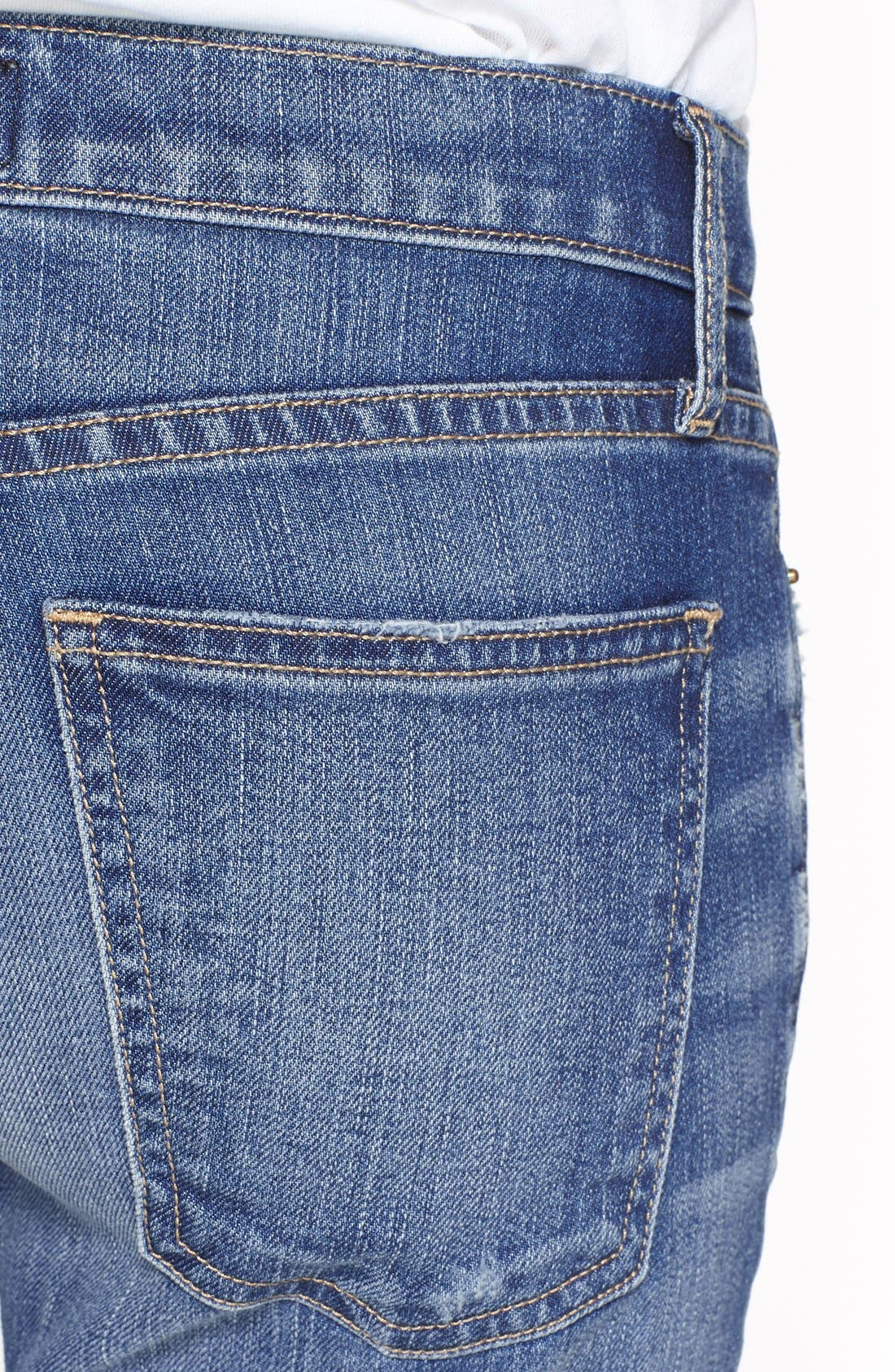 ,                             'The Stiletto' Destroyed Skinny Jeans,                             Alternate thumbnail 34, color,                             480