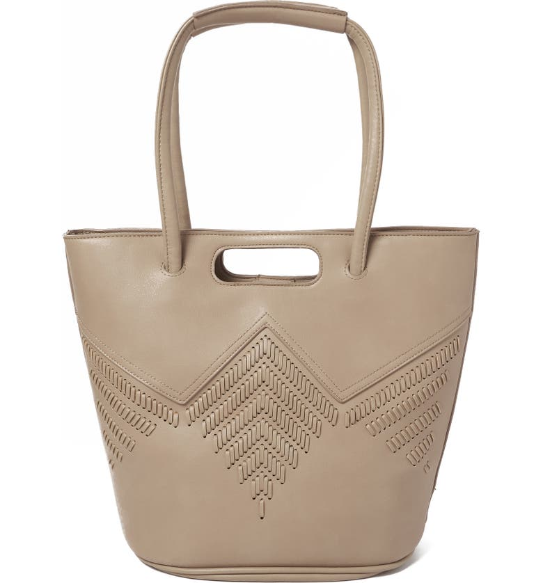 URBAN ORIGINALS Style Vegan Leather Tote Bag, Main, color, TAUPE
