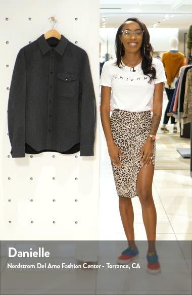 Principle Snap-Up Wool Blend Shirt Jacket, sales video thumbnail