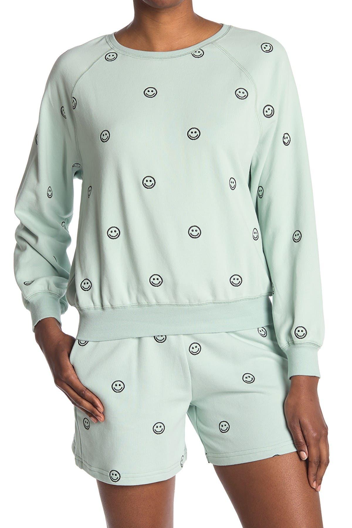 Image of Elodie Embroidered Raglan Sweatshirt