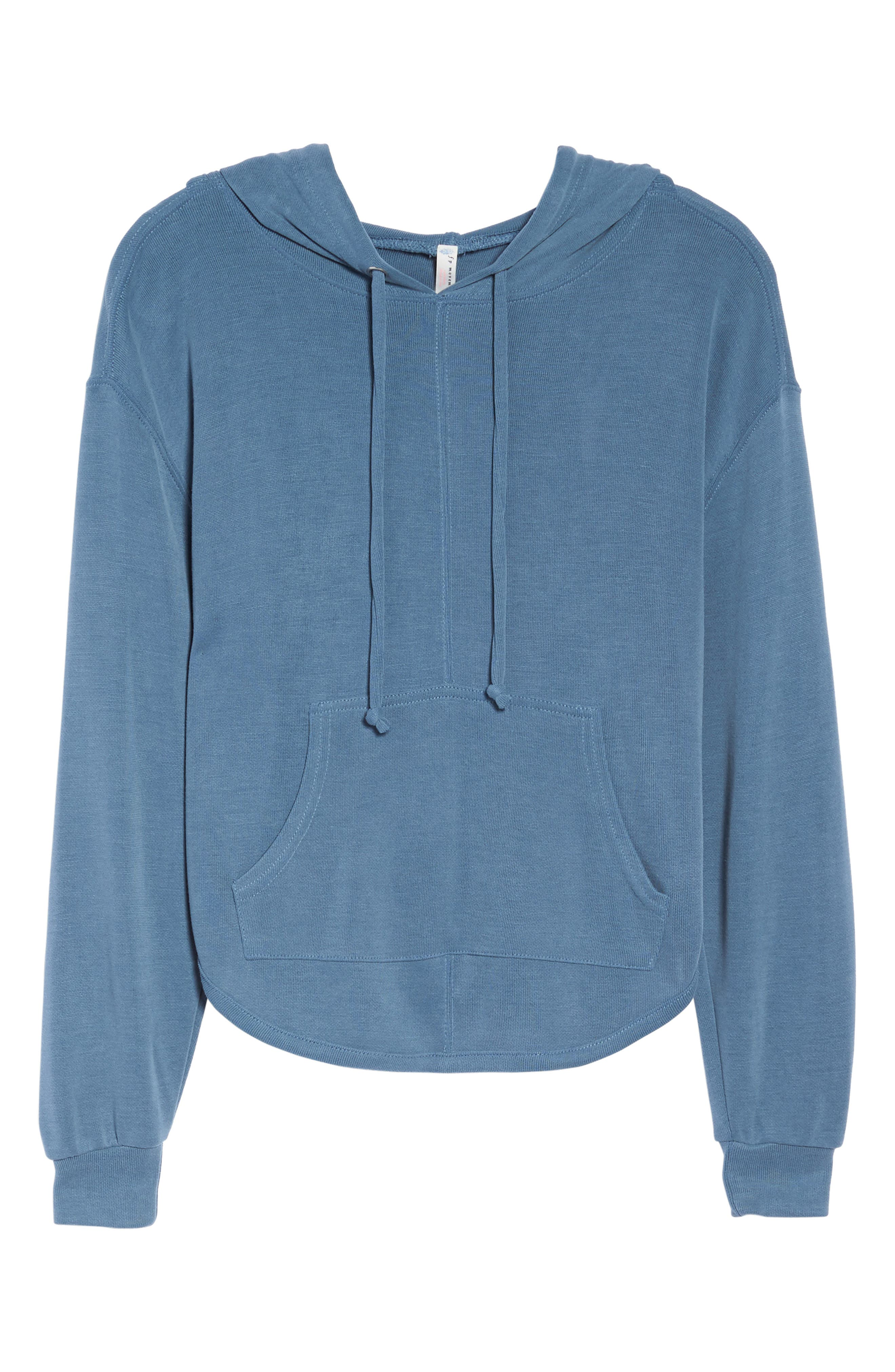 ,                             Back Into It Cutout Hoodie,                             Alternate thumbnail 7, color,                             400