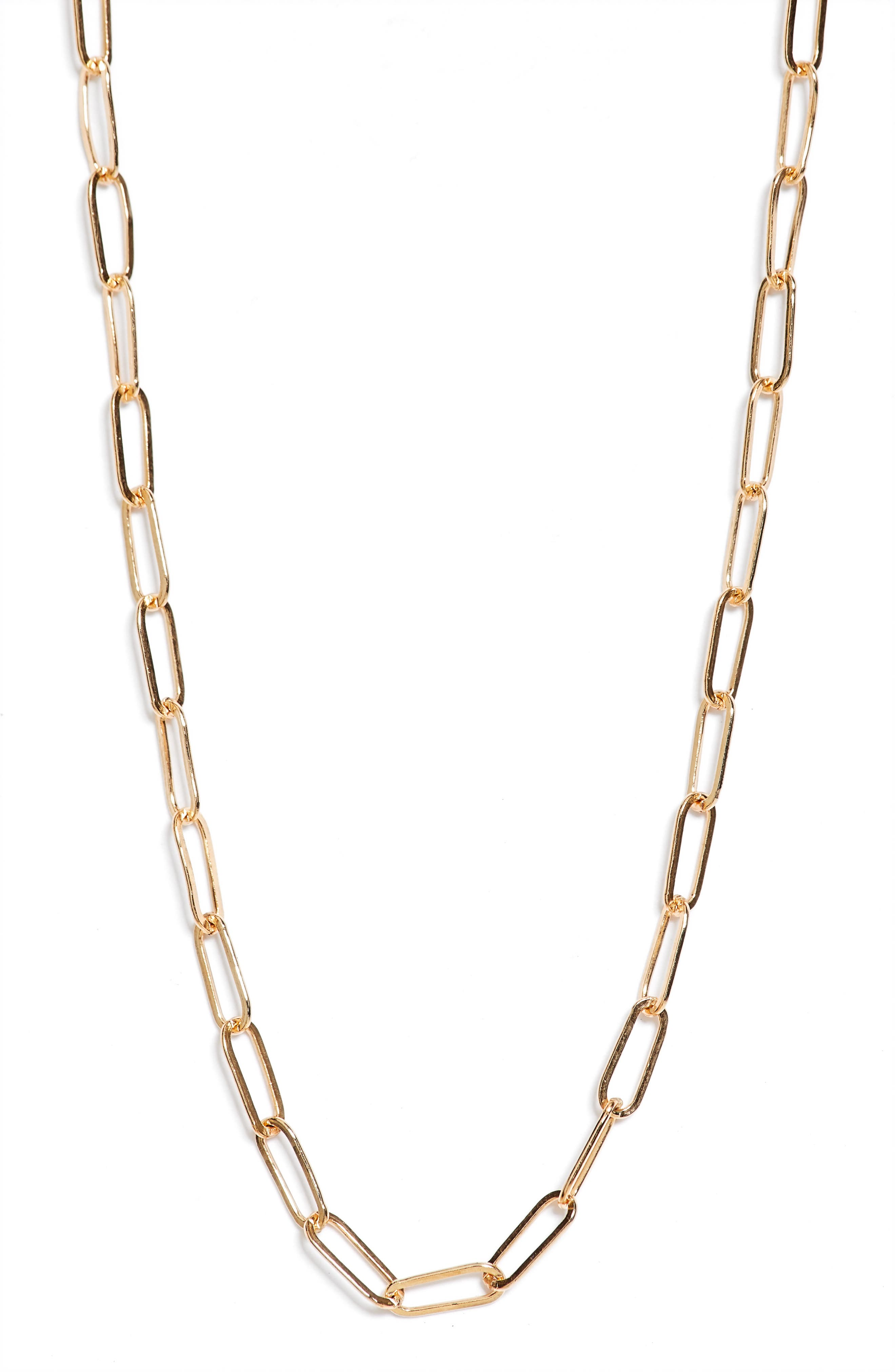 Handmade in the USA, this open-link necklace makes an understated accessory. Style Name: Set & Stones Porter Chain Link Necklace. Style Number: 6093915. Available in stores.