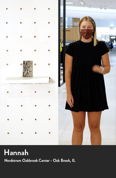 Jaelle Python Embossed Leather Phone Crossbody Bag, sales video thumbnail