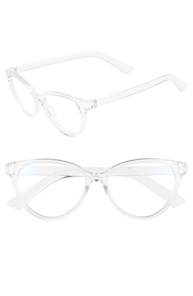 THE BOOK CLUB The Bookclub The Art of Snore 53mm Blue Light Blocking Reading Glasses, Main, color, 040