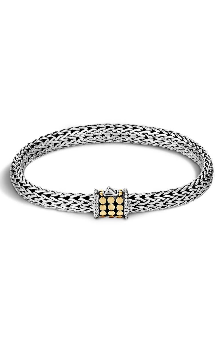 JOHN HARDY Dot Chain Bracelet, Main, color, SILVER/ GOLD