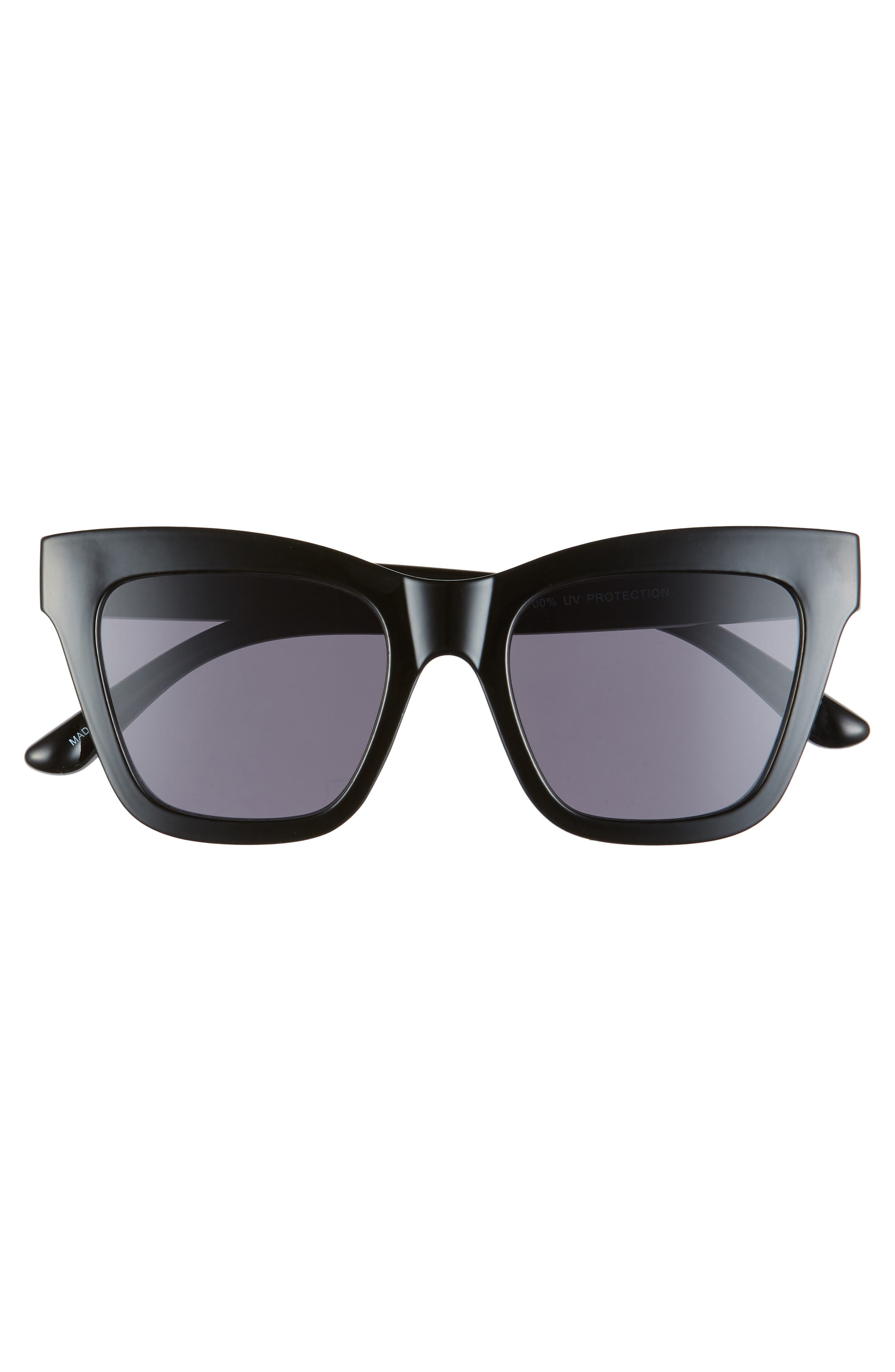 ,                             50mm Gradient Square Sunglasses,                             Alternate thumbnail 3, color,                             BLACK/ BLACK