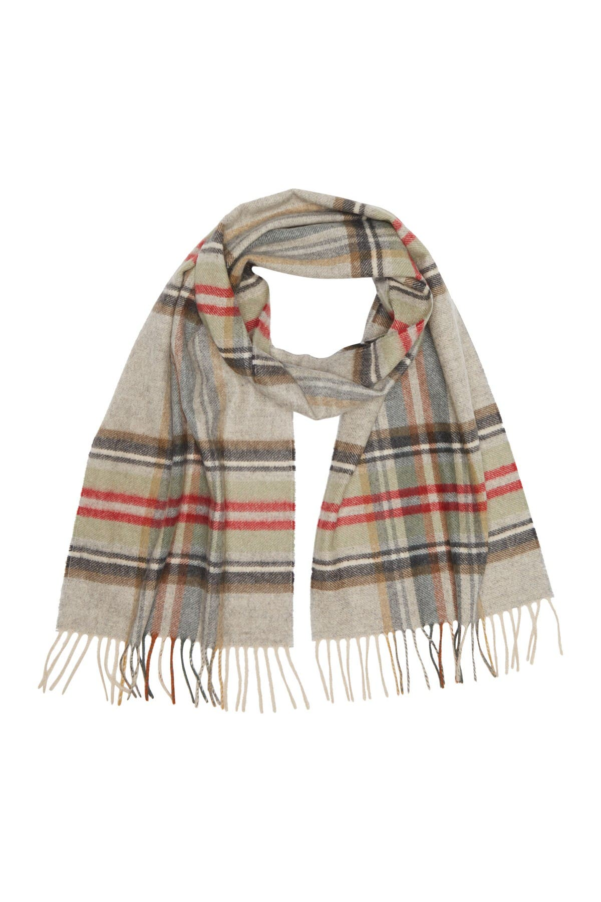 Image of Chelsey Imports Plaid Cashmere Scarf