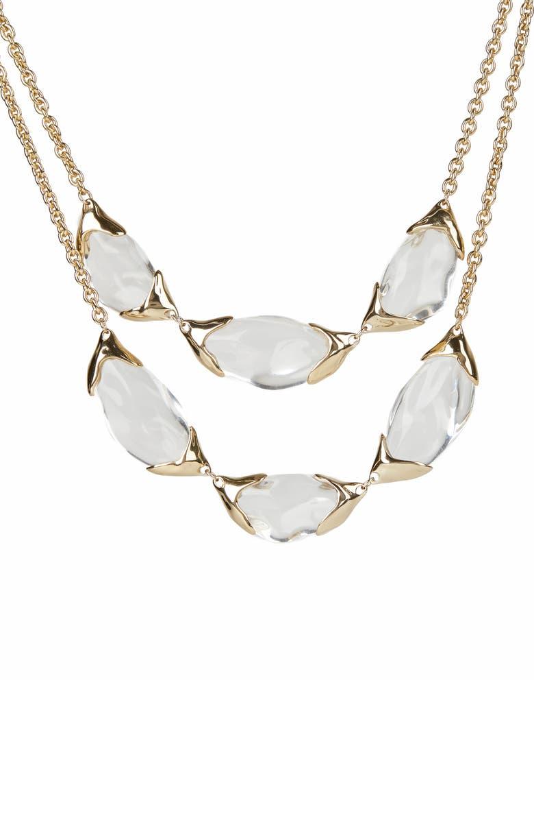 ALEXIS BITTAR Encased Pebble Double Strand Necklace, Main, color, 100