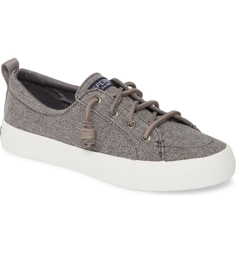 SPERRY Crest Vibe Sneaker, Main, color, GREY SPARKLE CHAMBRAY FABRIC