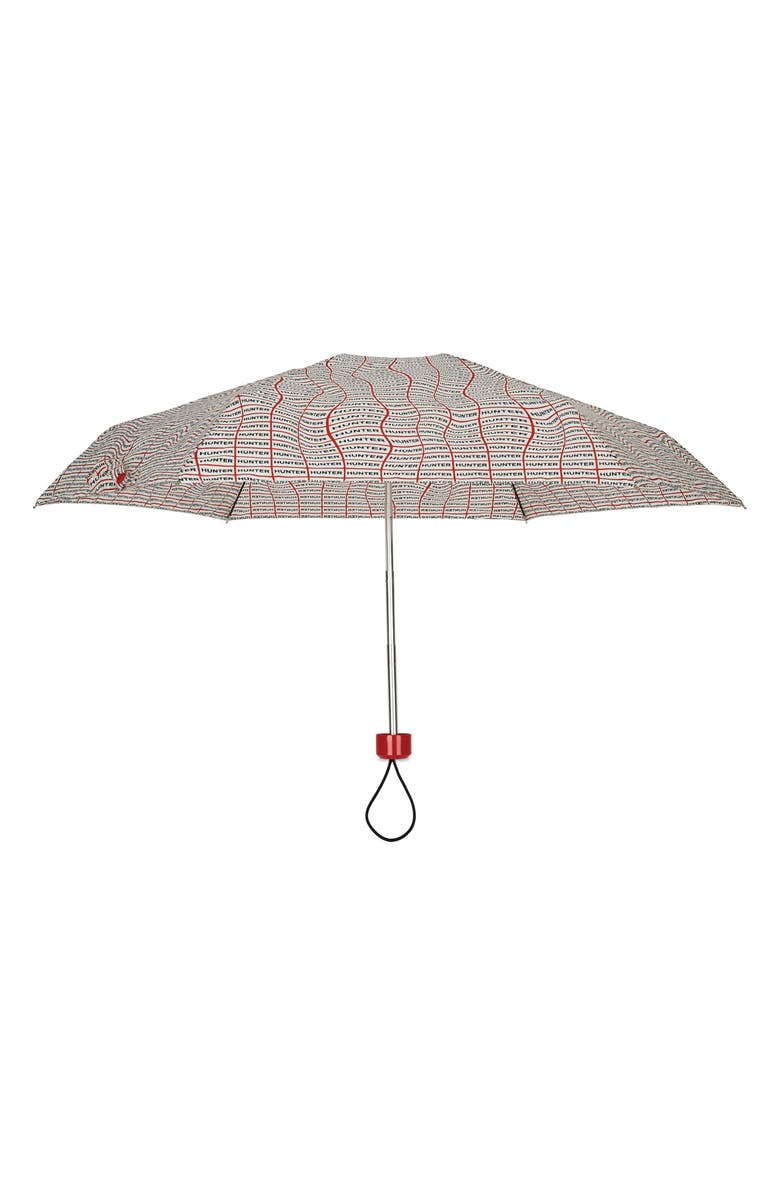 HUNTER Original Mini Compact Print Umbrella, Main, color, SONIC LOGO PRINT