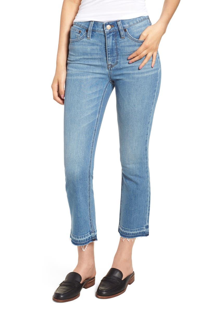 J.CREW Billie Demi Boot Crop Jeans, Main, color, 400