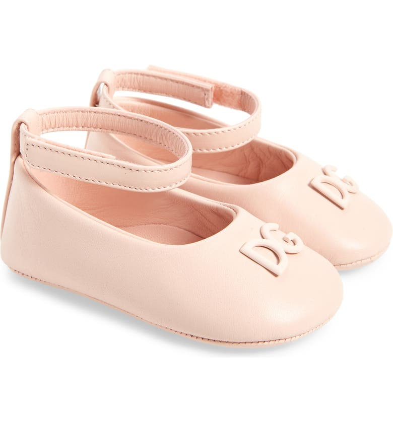 DOLCE&GABBANA Ankle Strap Flat, Main, color, PINK