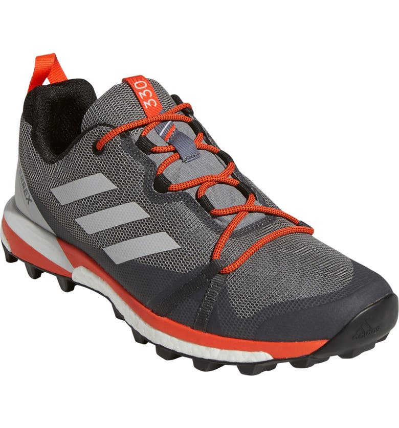 ADIDAS Terrex Skychaser LT Trail Running Shoe, Main, color, GREY THREE/ GREY ONE/ ORANGE