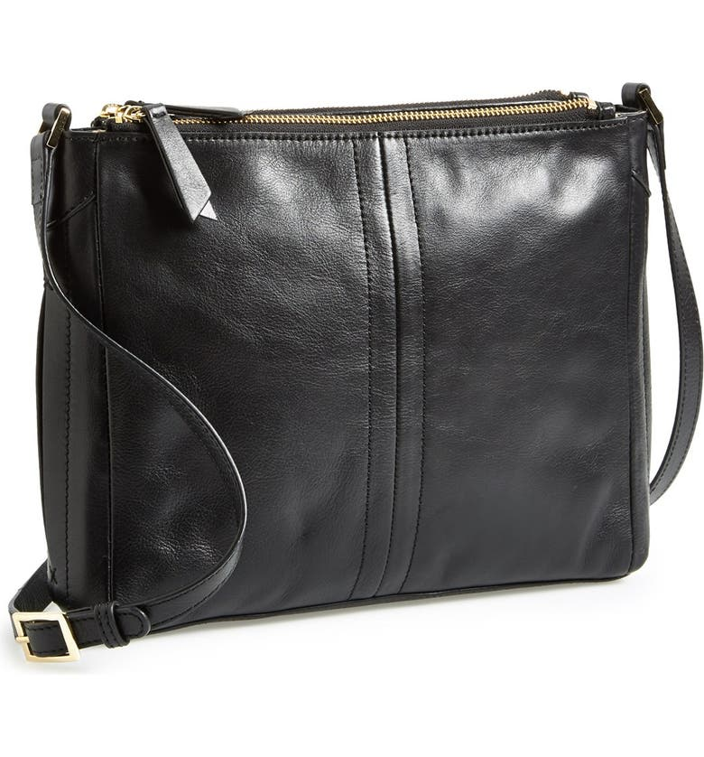 HALOGEN<SUP>®</SUP> Leather Crossbody Bag, Main, color, 001