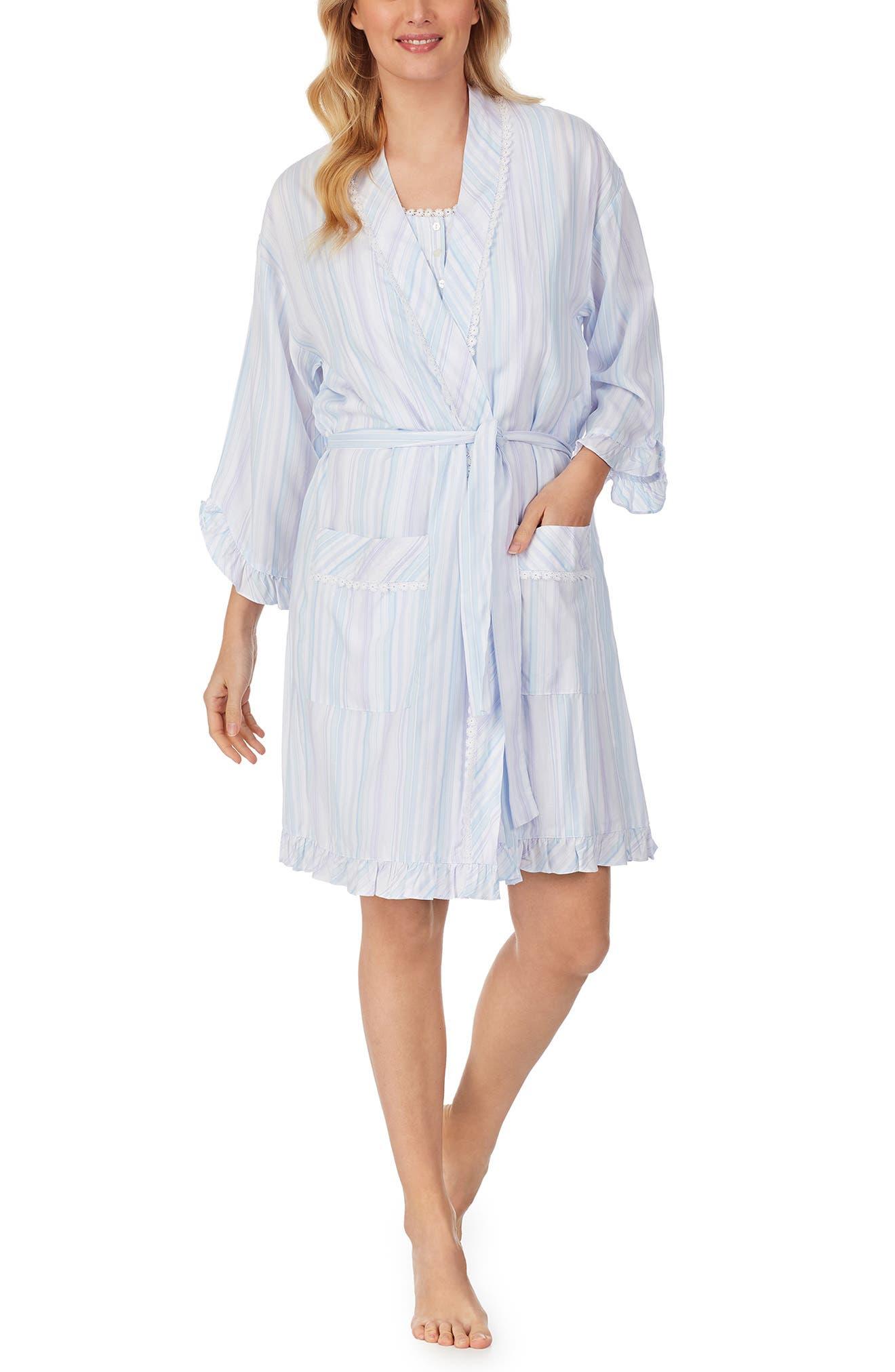 Stripe Short Robe