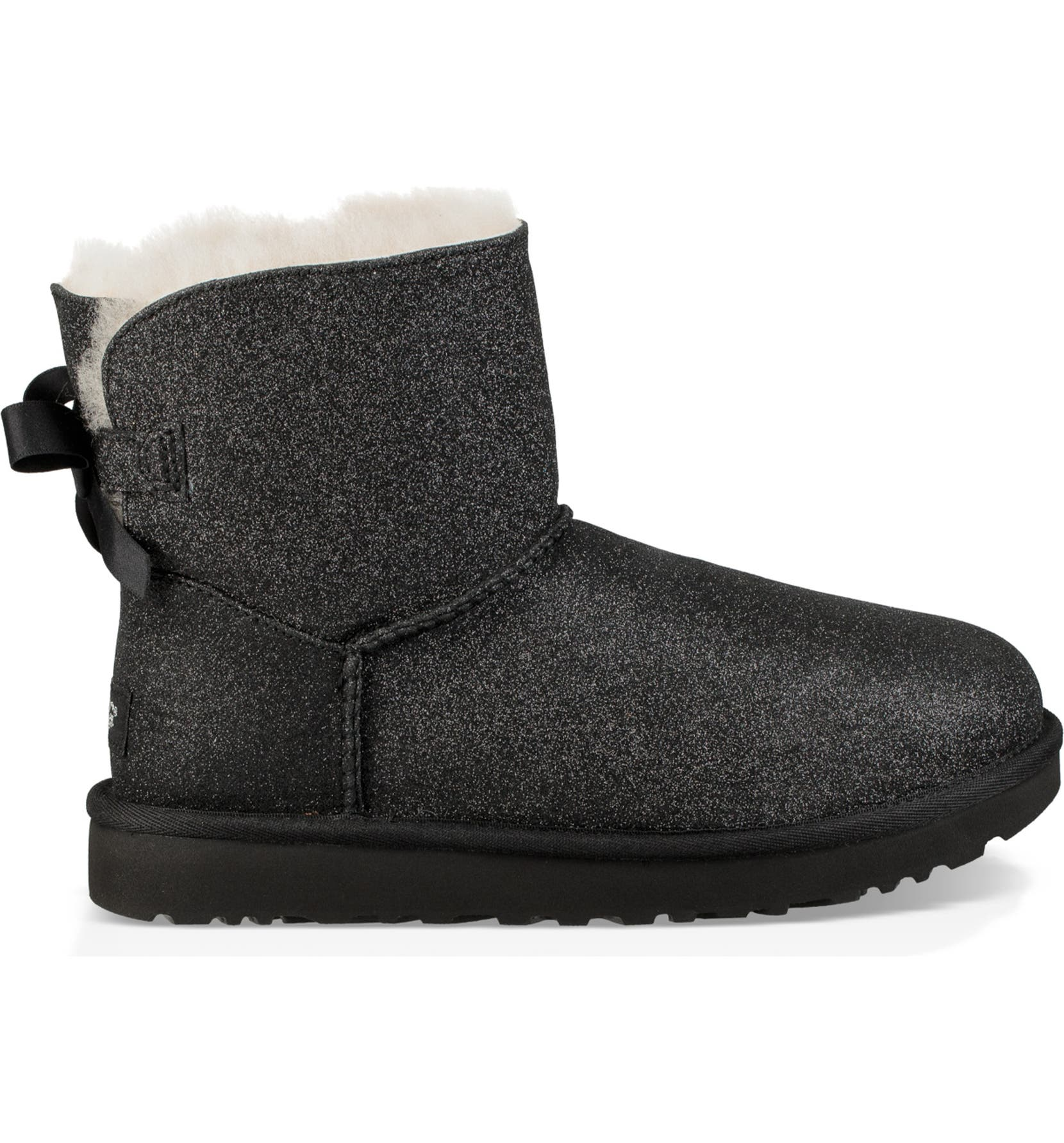 2cf31b057 UGG® Mini Bailey Bow Sparkle Genuine Shearling Boot (Women) | Nordstrom