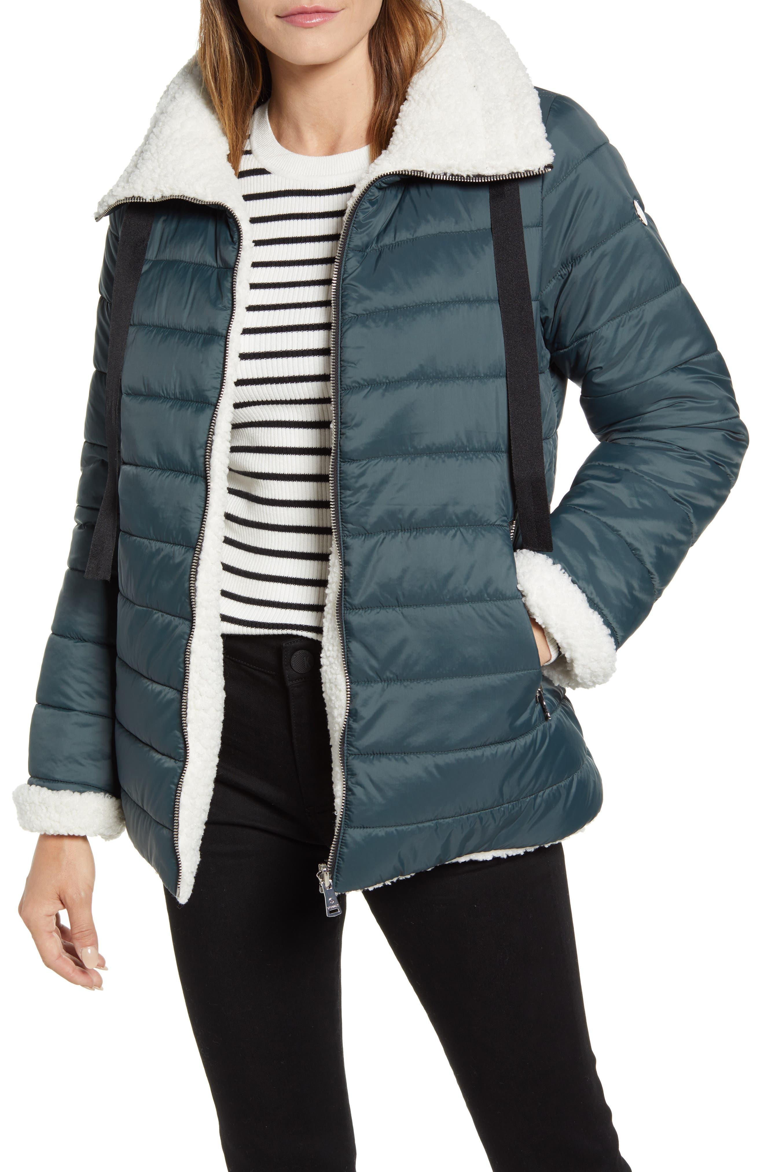 Bernardo Reversible Faux Shearling Puffer Jacket