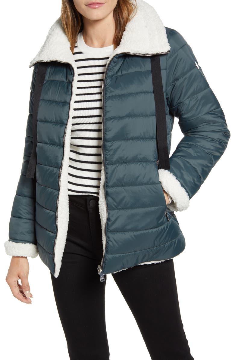 Reversible Faux Shearling Puffer Jacket by Bernardo