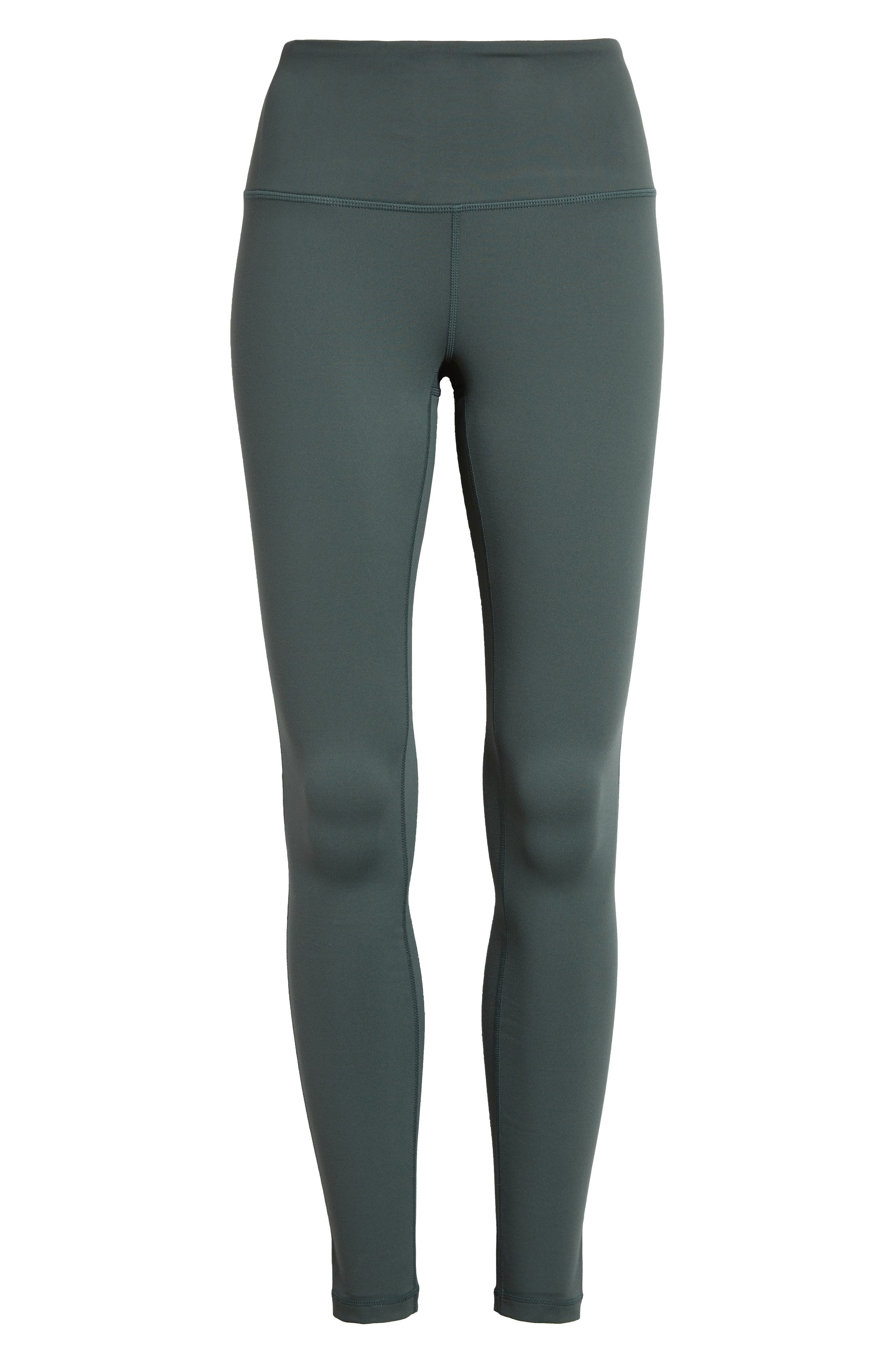 Built from moisture-wicking fabric and fitted with a no-slip waistband, these stretchy, figure-sculpting leggings keep you cool as your workout warms up. Style Name: Zella Live In High Waist Leggings. Style Number: 5137575. Available in stores.